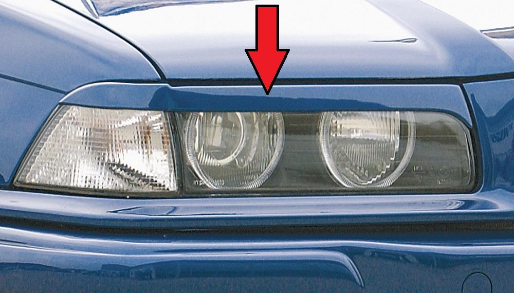 Scheinwerferblenden Cabrio, Coupe ABS inkl. Gutachten, Montagezubehör