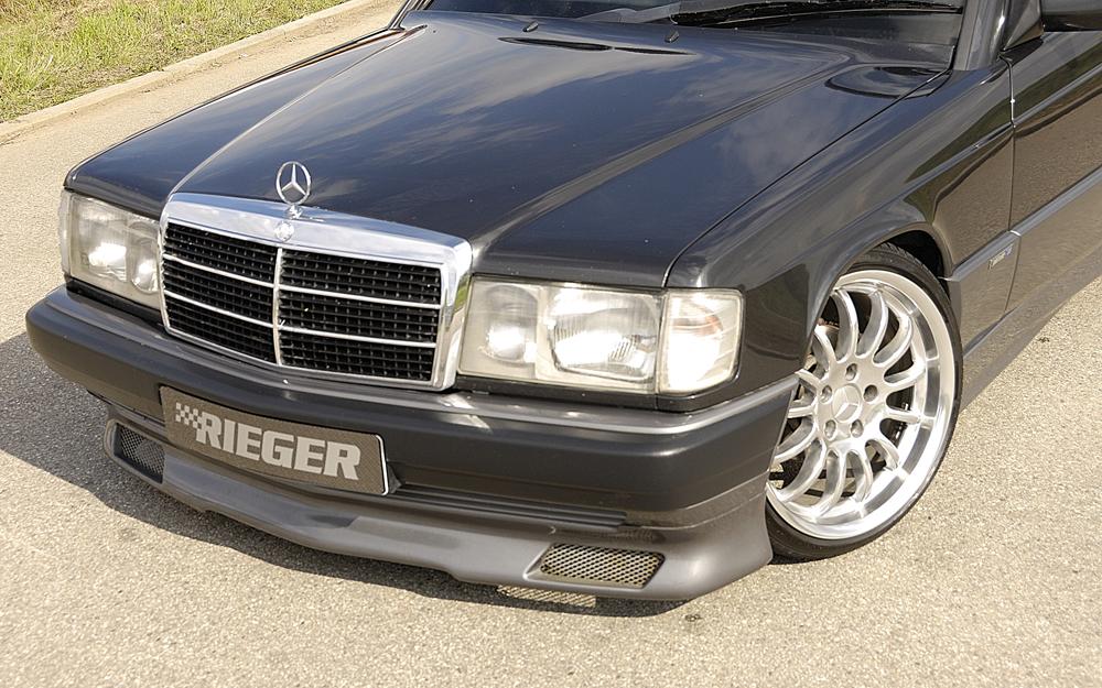 Rieger front spoiler lip for Mercedes benz 190e front bumper