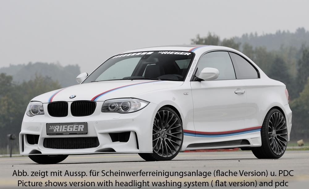 Rieger Heckeinsatz ABS glanz schwarz Doppelrohr links für BMW 1er E82 Coupe// E .