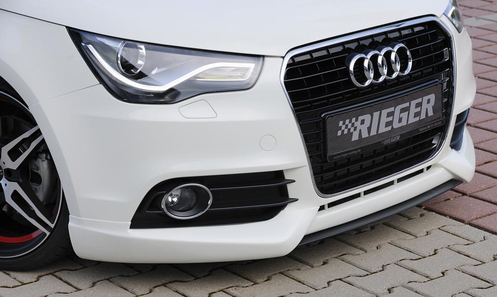 Audi A1:8X (10-14) Front Bumper Lip Spoiler - ABS [Image 2]