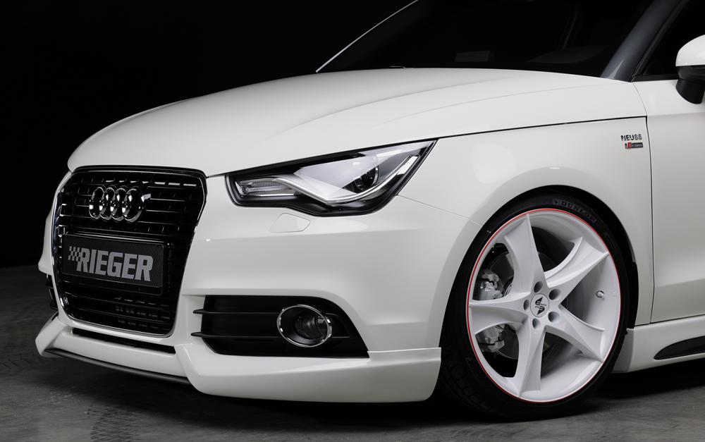 Audi A1:8X (10-14) Front Bumper Lip Spoiler - ABS [Image 3]
