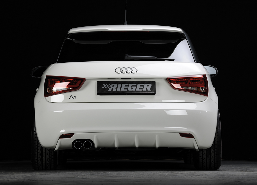 Audi A1:8X 3 & 5 Dr (10-14) Rieger Rear Diffuser - ABS [Image 2]