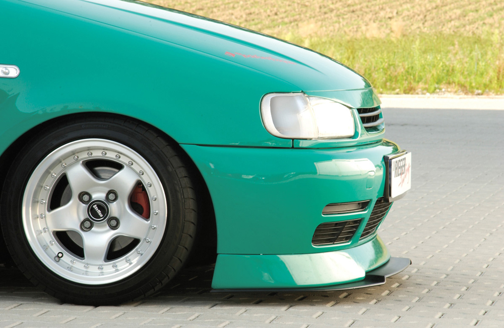 VW Polo 4 6N Rieger Infinity Front Lip Spoiler 75mm - ABS [Image 2]