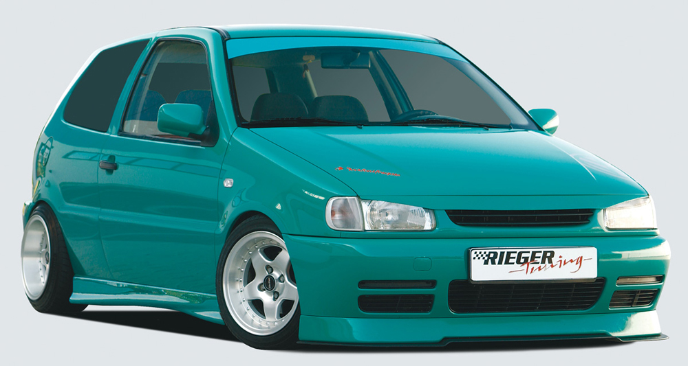 VW Polo 4 6N Rieger Infinity Front Lip Spoiler 75mm - ABS [Image 3]