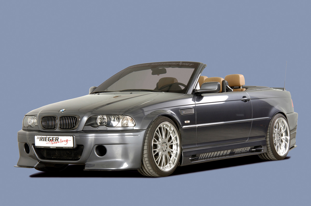 BMW 3 Ser E46 Rieger Vented Side Skirts - ABS [Image 2]