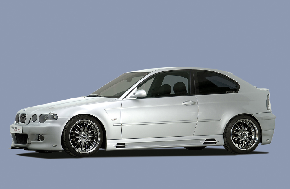 BMW 3 Ser E46 Rieger Vented Side Skirts - ABS [Image 5]
