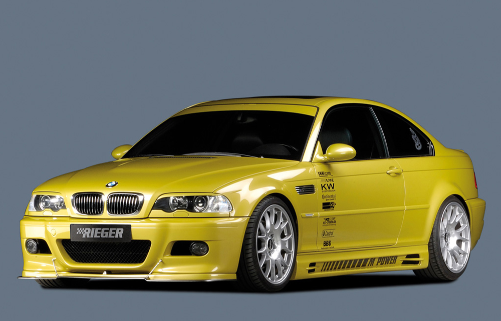 BMW 3 Ser E46 Rieger Duct & Vent Deep Side Skirts ABS [Image4]