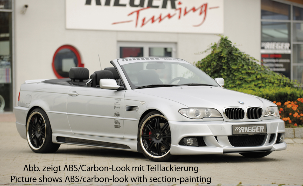 BMW 3 Ser E46 Rieger Vented Side Skirts - ABS/Carbon [Image 3]