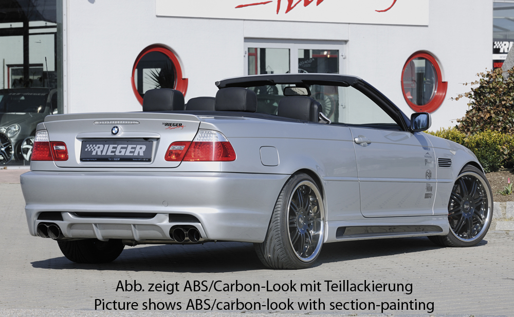 BMW 3 Ser E46 Rieger Vented Side Skirts - ABS/Carbon [Image4]