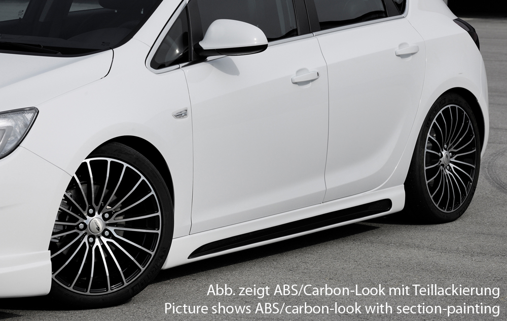 Astra J Rieger Side Skirts - ABS/Carbon [Image 2]