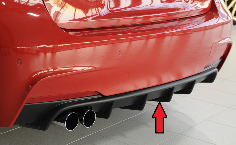 Heckeinsatz für Fahrzeuge mit M-Paket Heckschürze für original Doppelendrohr links <p>Heckeinsatz für Fahrzeuge mit M-Paket Heckschürze für original Doppelendrohr links;</p>