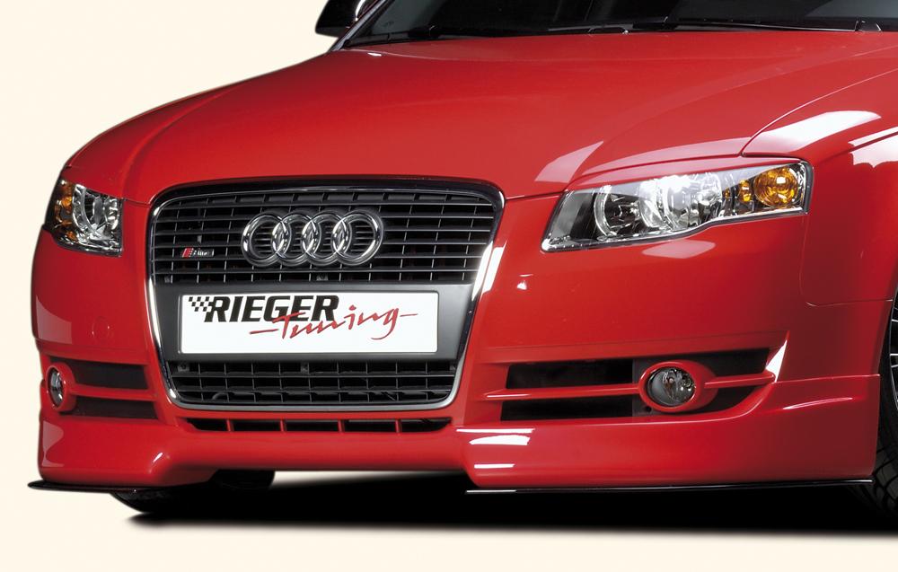 Audi A4 8E B7 04- Rieger Front Lip Spoiler - ABS [Image 2]
