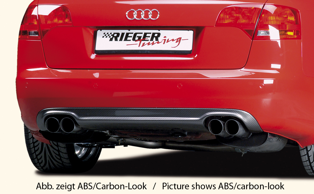 Audi A4 8E B7 04-08 Rear Skirt Insert - ABS/Carbon [Image 3]