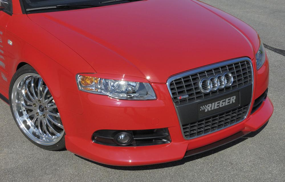 Audi A4 8E B7 04- S Line Front Lip Spoiler - ABS [Image 3]