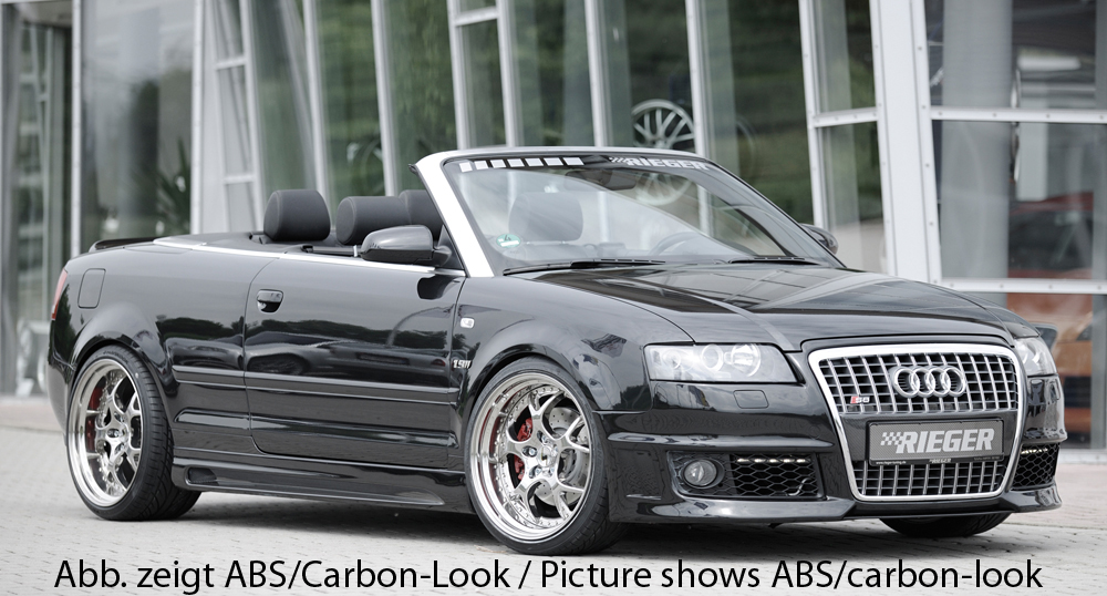 Audi A4 8H B6;B7 (02-08) Rieger Vented Side Skirts - ABS [Image 2]