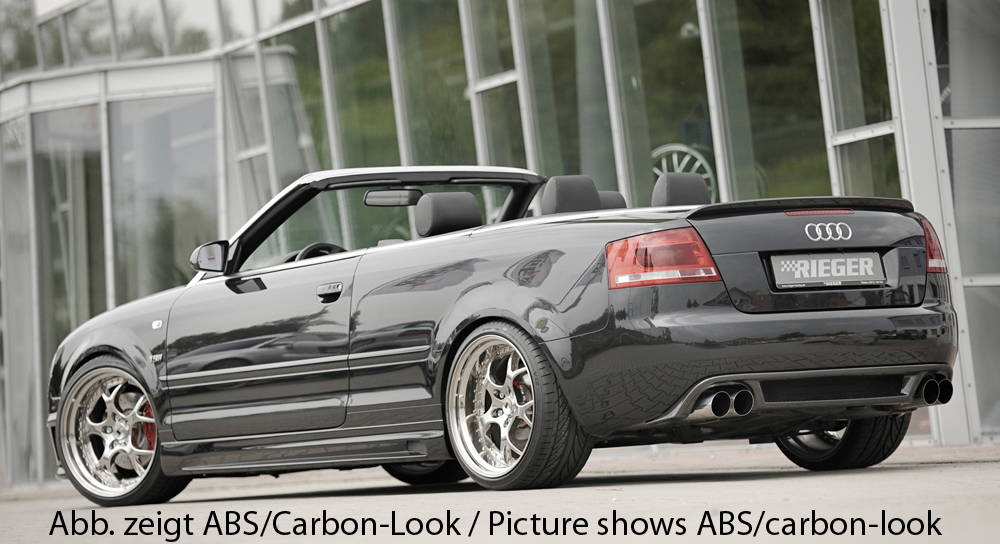 Audi A4 8H B6;B7 (02-08) Rieger Vented Side Skirts - ABS [Image 3]