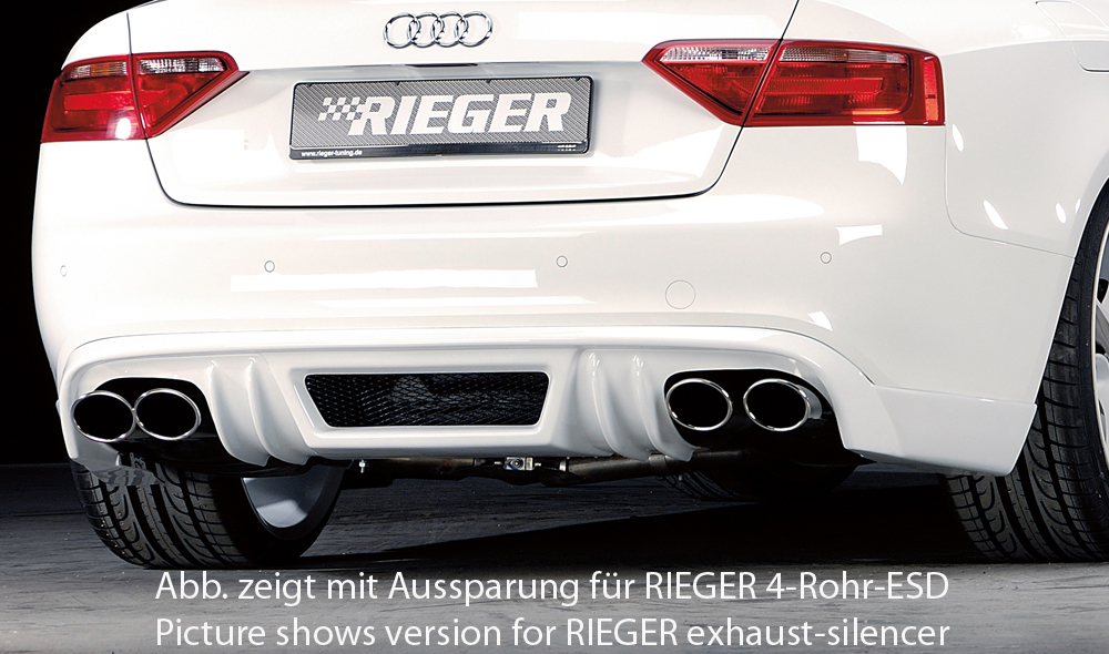 Audi A5 B8/B81 Rieger Rear Skirt - ABS/Carbon