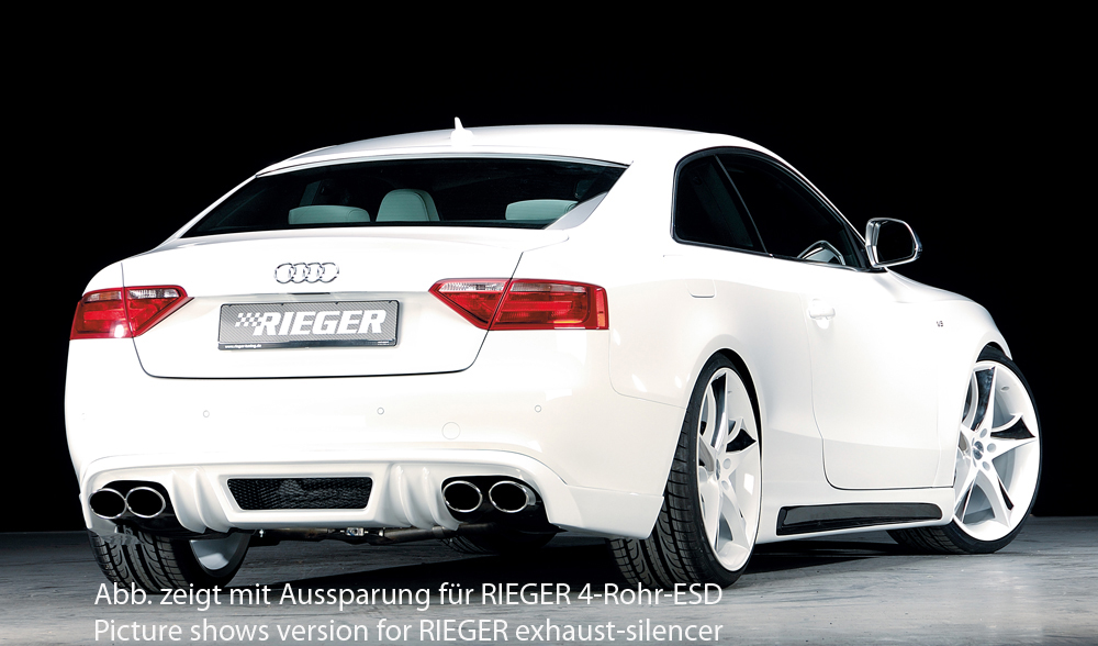 Audi A5 B8/B81 Rieger Rear Skirt - ABS/Carbon [Image 2]
