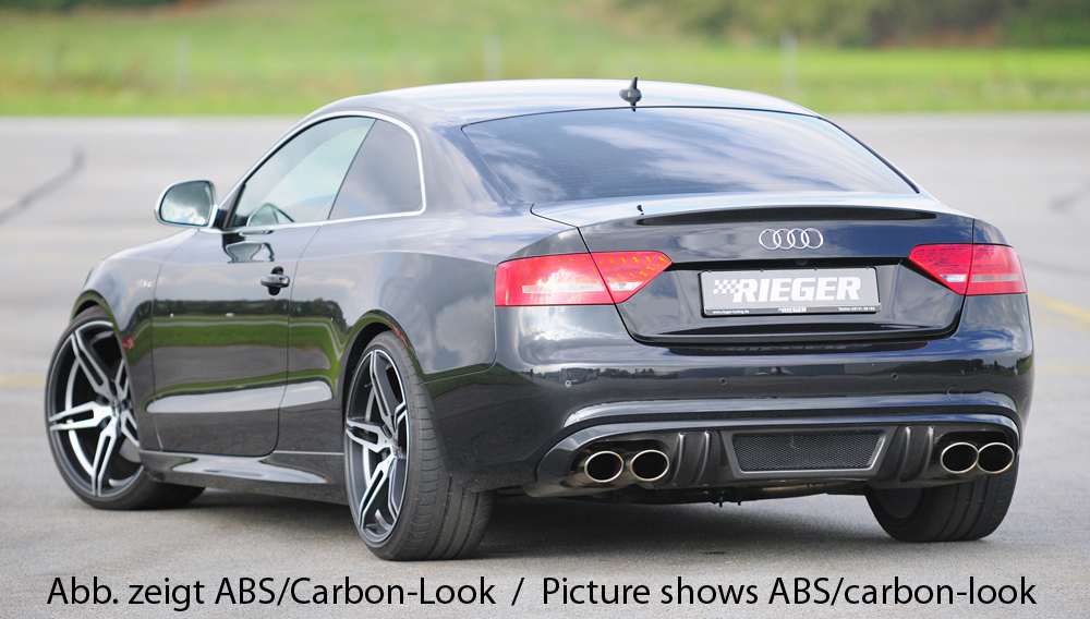 Audi A5 & S5 B8:B81 Rear Skirt Insert  - ABS/Carbon [Image 3]