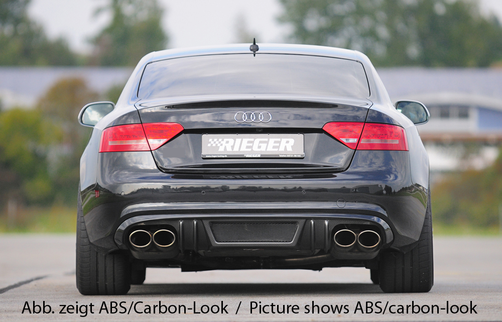 Audi A5 & S5 B8:B81 Rear Skirt Insert  - ABS/Carbon [Image4]