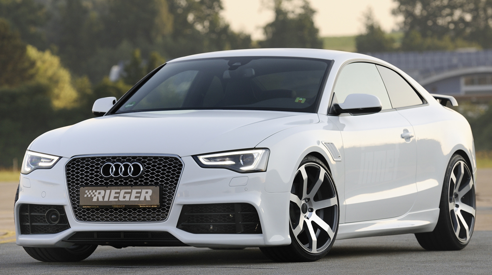 Audi A5/S5 B8:B81 Rieger Side Skirts - ABS [Image4]