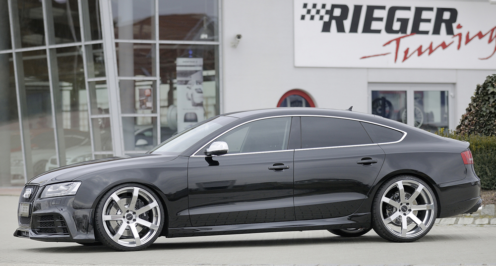 Audi A5 & S5 Sportback (07-) Rieger Side Skirts - ABS [Image 3]