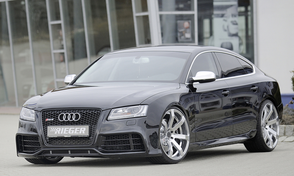 Audi A5 & S5 Sportback (07-) Rieger Side Skirts - ABS [Image4]