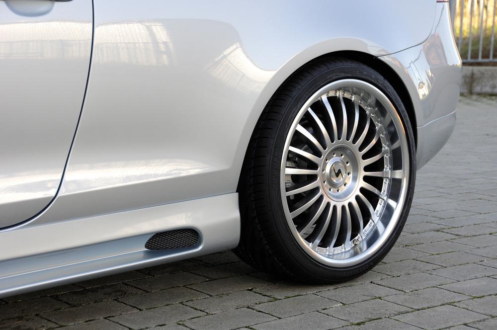 08.05 1KM Rieger Heckscheibenblende Carbon-Look f/ür VW Jetta 3