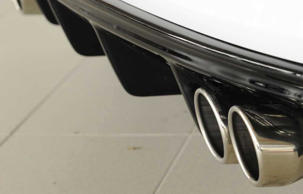 Audi A3: 8V (12-16) Rieger Rear Diffuser - Black ABS [Image 2]