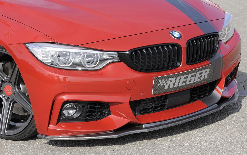 BMW 4 Ser (12-) Front Bumper Lip Spoiler - Carbon [Image 3]