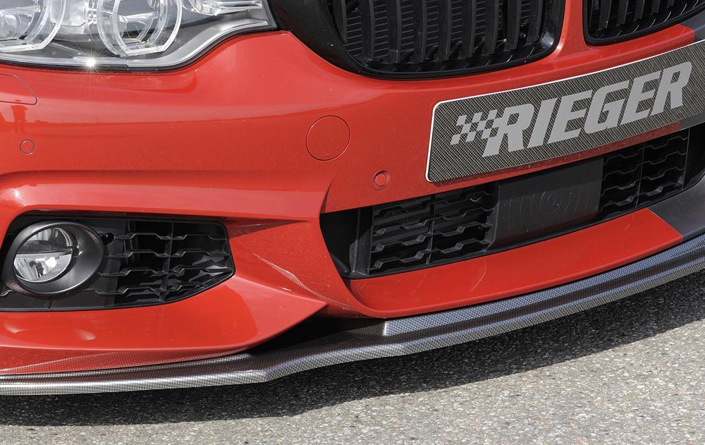 BMW 4 Ser (12-) Front Bumper Lip Spoiler - Carbon [Image4]