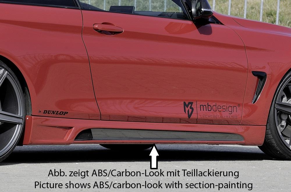 Seitenschweller rechts mit Schacht und Ausschnitt in Carbon-Look <p>Seitenschwellerrechts mit Schacht und Ausschnitt in Carbon-Look, inkl. Alugitter;</p>