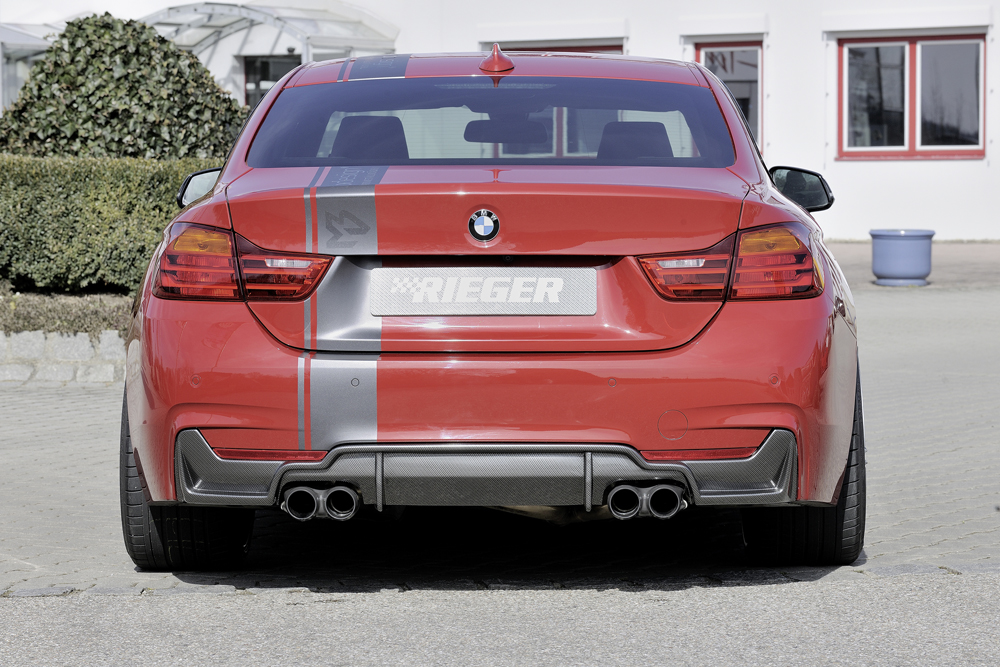 BMW 4 Ser (12-) 435i Look Rear Insert/Diffuser- Carbon [Image 2]