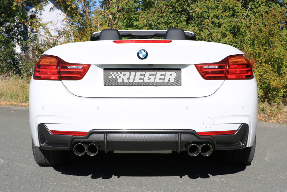 BMW 4 Ser (12-) 435i Look Rear Insert/Diffuser- Carbon [Image 3]