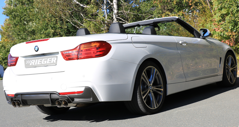 BMW 4 Ser (12-) 435i Look Rear Insert/Diffuser- Carbon [Image4]
