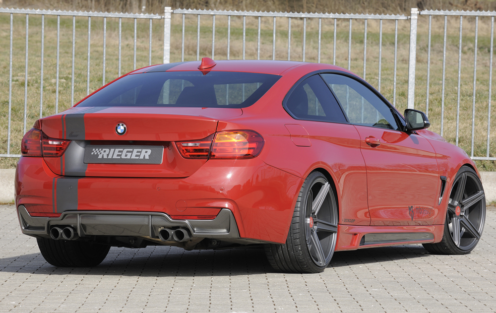 BMW 4 Ser (12-) 435i Look Rear Insert/Diffuser- Carbon [Image 5]
