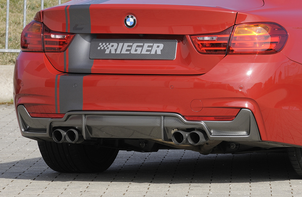 BMW 4 Ser (12-) 435i Look Rear Insert/Diffuser- Carbon [Image 6]
