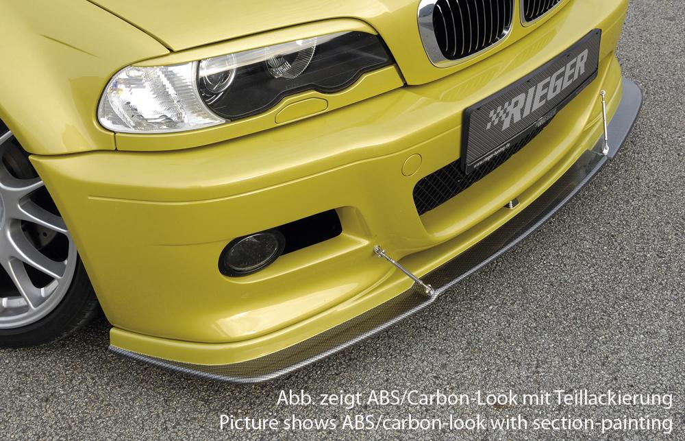 Spoilerlippe flache Version, ABS, Carbon-Look inkl. Montagezubehör, ABE