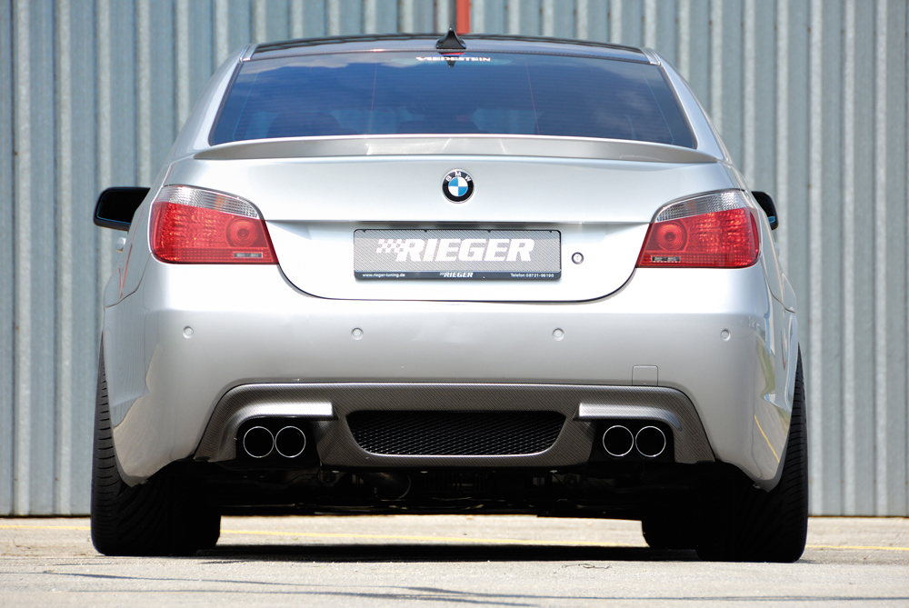 BMW 5 Ser E60 & E61 M-Tech Rear Diffuser - Carbon Look [Image 2]