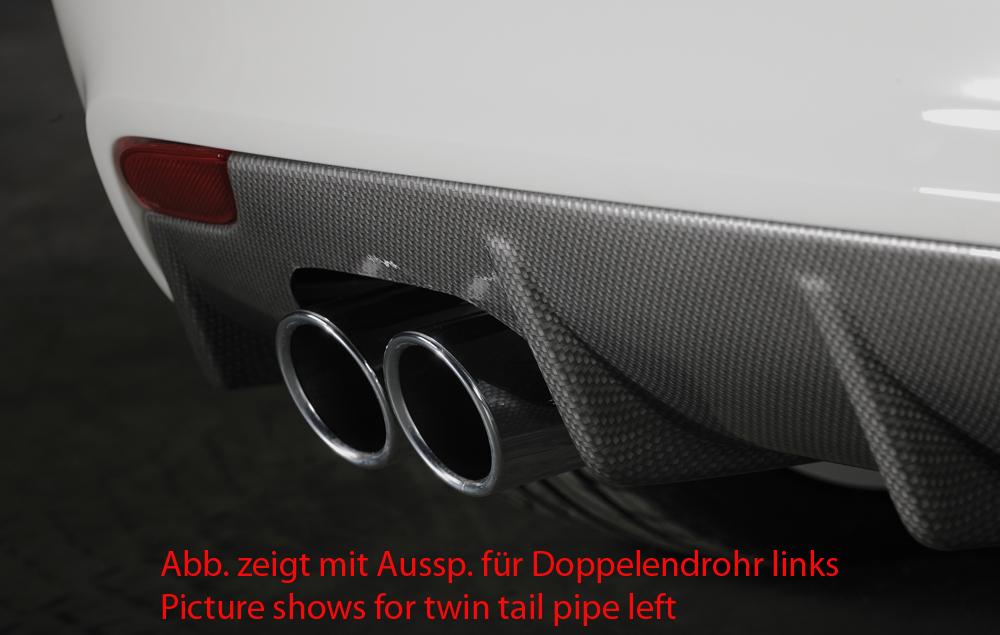 Audi A1 (10-14) 3 & 5 Dr Rear Bumper Diffuser - ABS/Carbon [Image 3]