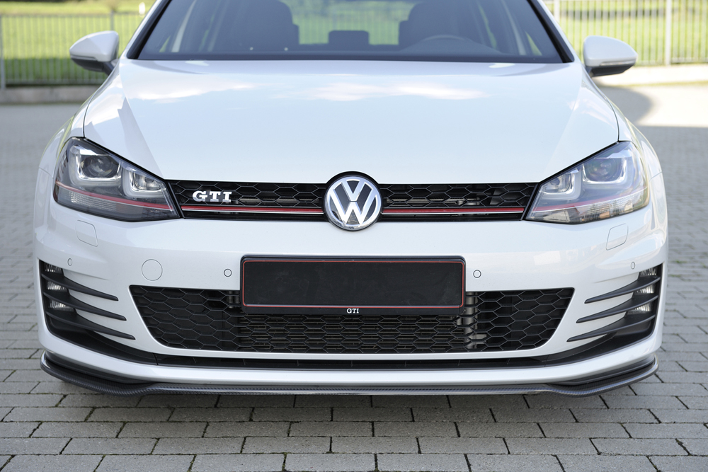 carbon splitter for vw golf 7 gti gtd. Black Bedroom Furniture Sets. Home Design Ideas