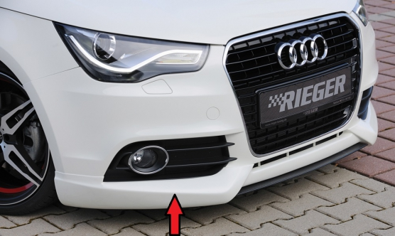 audi a1 8x 10 14 front bumper lip spoiler abs body. Black Bedroom Furniture Sets. Home Design Ideas