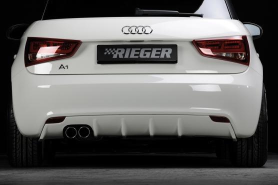 Audi A1:8X 3 & 5 Dr (10-14) Rieger Rear Diffuser - ABS