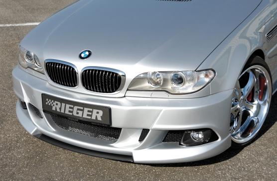 BMW 3 Ser E46 2dr Rieger E92 Look Front Bumper - ABS