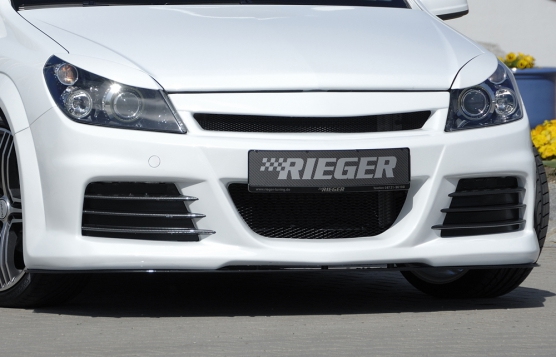 Astra H Rieger Front Bumper - ABS