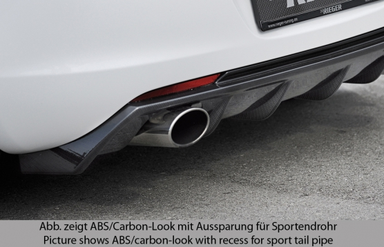 Astra J Rear Skirt Insert/Diffuser - ABS/Carbon