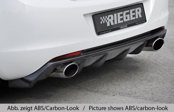 Astra J Rieger Rear Skirt Insert - ABS/Carbon