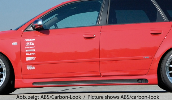 Audi A4 8E B6:B7 (00-08) Rieger Vented Side Skirts - ABS