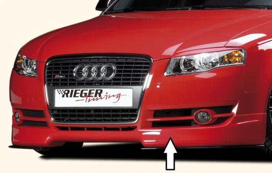 Audi A4 8E B7 04- Rieger Front Lip Spoiler - ABS