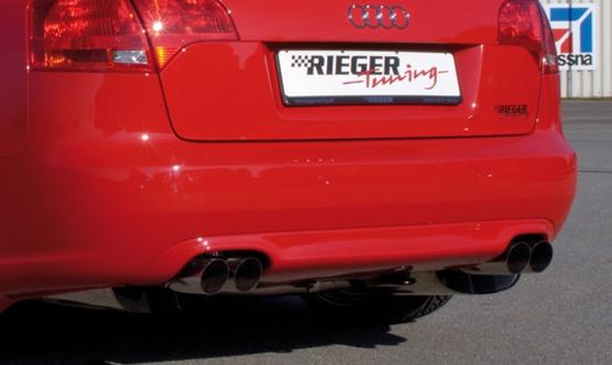 Audi A4 8E B7 04-08 Rear Skirt Insert - ABS/Carbon